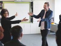 Watch Professor Green and Meera Syal surprise schoolkids with a Shakespeare lesson