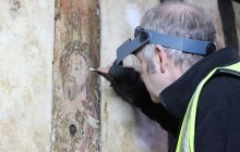 Catholic painting covered over by Shakespeare's dad discovered at Stratford's Guidhall